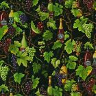 NUTEX FABRIC - 100% Cotton - Vines & Wines - Vineyard Black (87680-104)