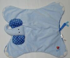 Burton+Burton Blue Elephant Plush Baby Rattle Security Blanket Silly Circus