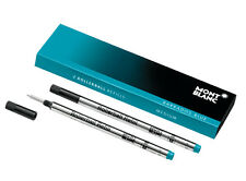 2 MONTBLANC BARBADOS BLUE TURQUOISE MEDIUM  ROLLERBALL REFILL NEW IN BOX 106932