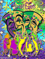 MARDI GRAS Poster/Print17x22 inches/February 2015/Music Jazz bands