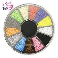 Blueness 1 Wheel Nail Art Acrylic Candy Color Ball Decoration Jewelry ZP203