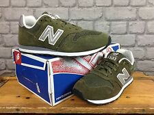 NEW BALANCE 373 LADIES UK 6 EU 39.5 GREEN SILVER WHITE SUEDE TRAINERS RRP £65