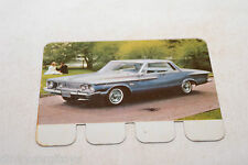 COOP PLAQUETTE METAL CARD 87 PLYMOUTH FURY 1962.