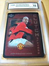 JUAN SEBASTIAN VERON MANCHESTER 2003 UD STRIKE FORCE CLUTCH PLAYERS 15 GRADED 10