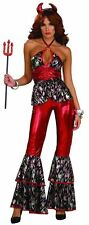 Woman's Red Disco Devil Diva Adult Halloween Costume Standard One Size Forum