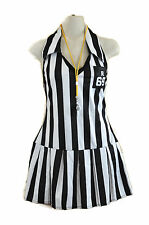Referee Costume S M Leg Avenue Halloween Black White Stripe Sexy Dress Sports
