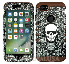 For Apple iPhone 7 & 7 Plus KoolKase Hybrid Silicone Cover Case- Skull 66