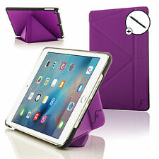 Purple Origami Smart Case Cover Stand for Apple iPad Mini 4 2015 + Stylus