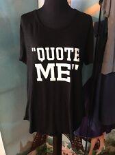 """NWT Banana Republic """"Quote Me"""" T Shirt Sz L Hi/Lo Hem"""