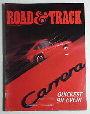 ROAD & TRACK CAR MAGAZINE 1984 FEBRUARY PORSCHE CARRERA 911