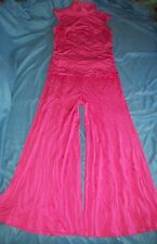 Pant Tank 2 Piece JAY MORLEY FERN VIOLETTE 1960s Hippie Outfit Bell Bottoms Pink