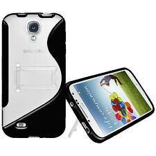 Amzer Protective TPU Hybrid Case Cover With Stand For GALAXY S4 GT-I9500 - Black