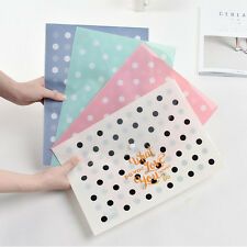 """""""Little Dots"""" File Folder Pack of 4 One Layer A4 Plastic Document Study School"""
