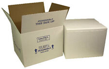 2 Insulated shipping cooler styrofoam box coral ice refrigerated cold cool 8x6x4