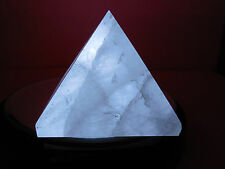 50mm CLEAR QUARTZ CRYSTAL PYRAMID 112g. India;ORGONE;DECOR;METAPHYSICAL#16 REIKI