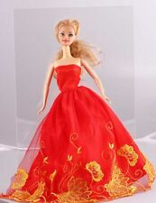 Wholesale Handmade Red The original soft clothes dress for barbies doll 1101