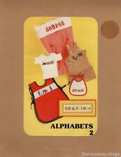 Alphabets 2 Nancy Jacobson Designs Counted Cross Stitch 1981