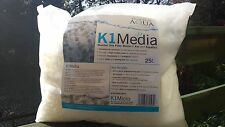 25 LITRES OF K1 FILTER MOVING BED BIO MEDIA & 50+ FREE FILTER START BALLS
