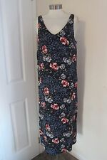 size 14 navy floral print maxi dress from marks and spencer brand new