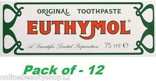 Euthymol Original Toothpaste 75ml - 12 Pack (Expiry - 2018)