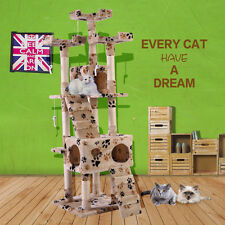 Deluxe Cat Tree Condo Furniture Play Toy Scratch Post Kitten Pet ...