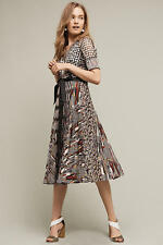 ANTHROPOLOGIE - Beguile By Byron Lars - Paillette Pleated Dress size 12 L NEW