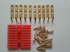 10 x HEAVY DUTY PICTURE / MIRROR HOOKS. (INCLUDING SCREWS & RAWPLUGS) NEW