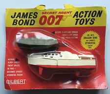 Vintage Gilbert Glidrose 16541 JAMES BOND 007 DR NO DRAGON tank+largo HYDROGLISSEUR