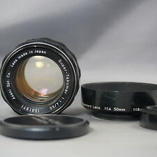 8 elements!! Asahi Opt (PENTAX) Super TAKUMAR 50mm f1.4 lens for M42 Screw mount