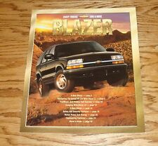 Original 2001 Chevrolet Blazer Sales Brochure 01 Chevy