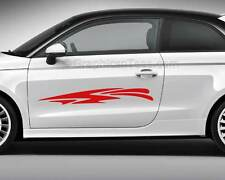 Car Body Stickers Racing Tattoos Custom Side Stripe Graphics -Various Colours 04