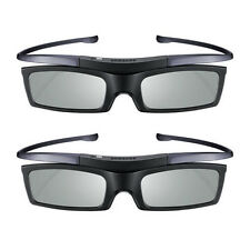 2 Lots New 4K HD UHD SUHD 3D Active TV Glasses For Sony Samsung Universal TV