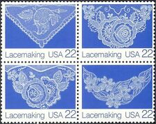 USA 1987 FOLK ART / lace-making / artigianato / Tessile 4V Set BLK (n44383)
