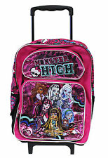 """Monster High Large 16"""" Rolling Backpack for Kids - BRAND NEW - Licensed Product"""