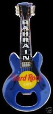 Hard Rock Cafe BAHRAIN Blue Bottle Opener Guitar Magnet