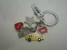 NWT Coach NYC New York City Multi Mix Keychain Fob F69936