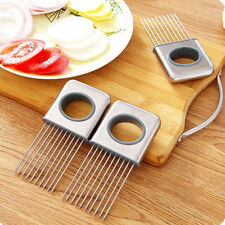 Onion Tomato Vegetable Slicer Cutting Aid Guide Holder Slicing Cutter Gadget DSU