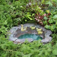 Miniature Dollhouse FAIRY GARDEN ~ Mallard's Pond ~ NEW