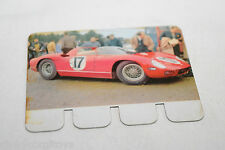 COOP PLAQUETTE METAL CARD 68 FERRARI PROTOTYPE RACING CAR