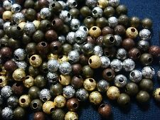 Stardust 4mm round beads 200+- 4 assorted colors jewelry spacer beads fpb199