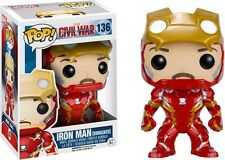 Iron Man Unmasked Captain America 3 Civil War Pop! Vinyl Figure Marvel #136