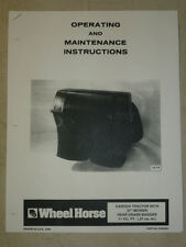 """WHEEL HORSE GARDEN TRACTOR 37"""" REAR GRASS BAGGER MANUAL"""