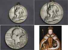 Sterling Silver Queen Victoria Medal  pendant 1897 Diamond Jubilee