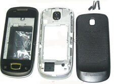 For Samsung S5570 Galaxy Mini Fascia Housing Cover Case Keypad Buttons Black UK