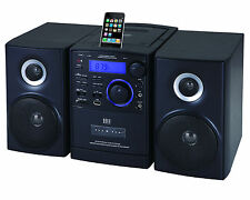 Supersonic SC-805 MP3/CD Player iPod Docking USB/SD/AUX Inputs Cassette Recorder