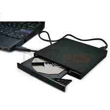 Super Slim External Portable USB 24x CD-ROM Black Drive For Laptop Desktop PC