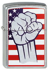 Briquet zippo American Fist Collection 2013 poing us drapeau OVP NOUVEAU