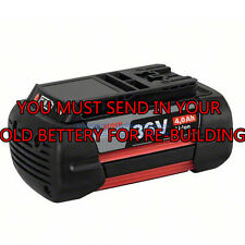 Rebuild service for Bosch BAT836 36-Volt Battery Upgraded to 1.5 A/H Cells