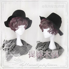 Japanese Harajuku Vintage Gothic Lolita Curly Gradient Cosplay Daily Short Wig