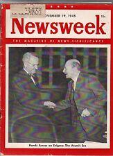 1945 Newsweek November 19-Peron marries Eva Duarte; Dymaxion house; Hong Kong